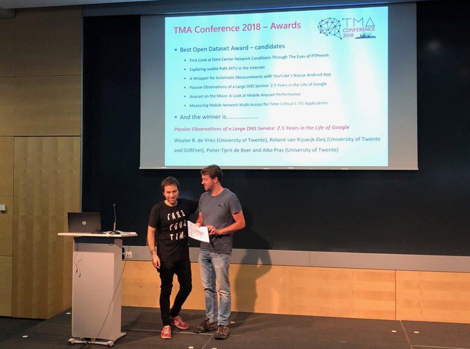 News | Wouter de Vries wins Best Open Dataset Award at TMA