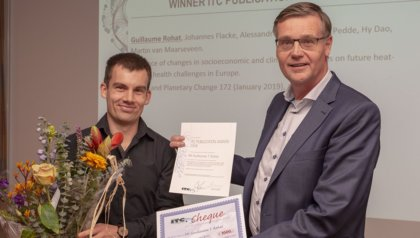 Guillaume Rohat receives ITC Publication Award