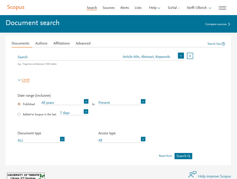 Databases | Scopus