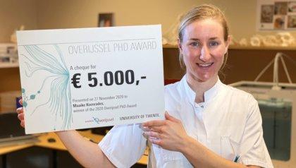 Maaike Koenrades wins Overijssel PhD award