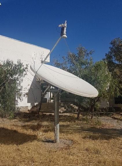 Figure 1: C-band satellite reception system at Mekelle University