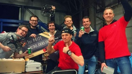 "The UT and Clear Flight Solutions winners of the ""anti-drone competition"" DroneClash"