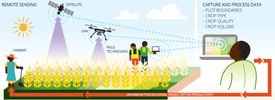 Out of the vast amount of data collected by remote sensing technology, advice can be provided to farmers on the ground to help inform their decisions about farming methods.